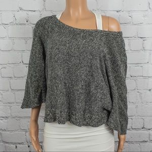 Free People grey knit sweater